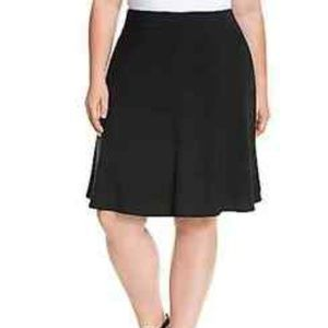 Lane Bryant sz20 black crepe skater skirt